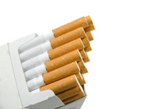 Cigarette package royalty free stock photos