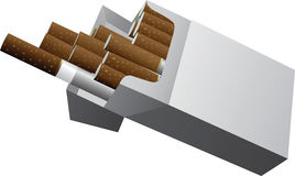 Cigarette Packet Royalty Free Stock Photos