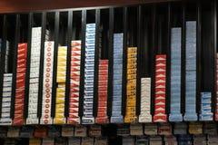 Cigarette packs stock images
