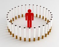 Cigarette Prison Stock Images