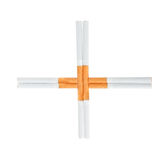 Cigarette Put as Cross Stock Photos