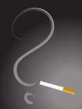 Cigarette with question mark Royalty Free Stock Image