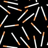Cigarette seamless on black background Stock Photo