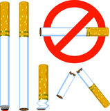 Cigarette set Royalty Free Stock Photo