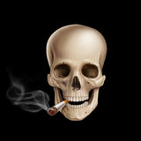 Cigarette skull Stock Images