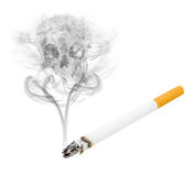 Cigarette skull Royalty Free Stock Image