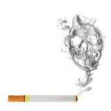 Cigarette with  skull smoke effect Stock Image