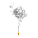 Cigarette with  skull smoke effect Royalty Free Stock Photography