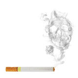 Cigarette with  skull smoke effect Royalty Free Stock Photos