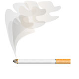 Cigarette with a smoke Royalty Free Stock Photos