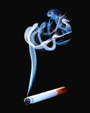 Cigarette with smoke Royalty Free Stock Photo