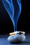 Cigarette smoke Stock Photography