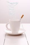 Cigarette smoke as text food, health concept Royalty Free Stock Image