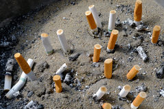 Cigarette after smoke. In ashtray Stock Images