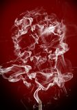 Cigarette smoke scull Stock Photo