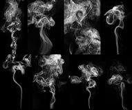 Cigarette smoke set . royalty free stock photo