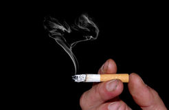Cigarette smoke Stock Photos