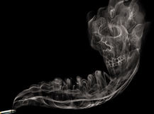 Cigarette smoke skull Stock Photo