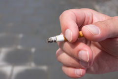 Cigarette smoker Stock Image