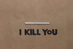 Cigarette or Smoking  Kills Stock Photography