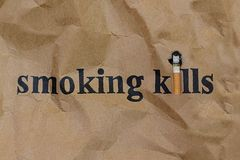 Cigarette or Smoking  Kills Stock Images
