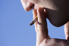 Cigarette Smoking Man Stock Photography