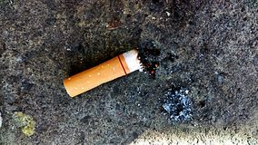 Cigarette stubbed out Stock Photo