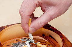 Cigarette Stubbing Out Stock Images