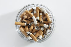 Cigarette stubs Stock Images