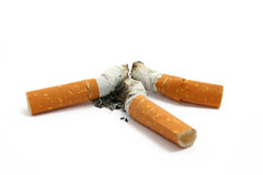 Cigarette stubs Stock Image