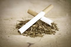Cigarette and tobacco Stock Photography