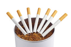 Cigarette and tobacco Stock Images