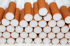 Cigarette Tubes isolated on white background Royalty Free Stock Photo
