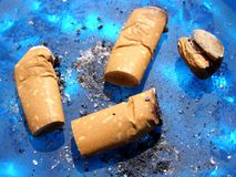 Cigarette waste Stock Photography
