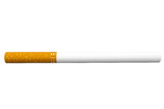 Cigarette on a white Royalty Free Stock Photos