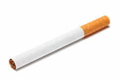 Cigarette on white background Royalty Free Stock Image