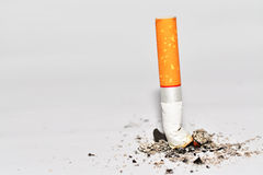 Cigarette. With white background Royalty Free Stock Photos