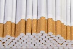 Cigarette. On a white background closeup Stock Image