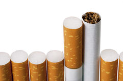 Cigarette on white isolated Stock Image