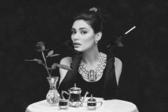 cigarette woman στοκ εικόνες με δικαίωμα ελεύθερης χρήσης