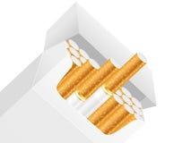Cigaretten boxas vektor illustrationer