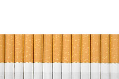 Cigarettes. Filter cigarettes on white background Royalty Free Stock Photo
