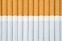 Cigarettes. Filter cigarettes background, close up Stock Photo