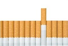 Cigarettes. Filter cigarettes on white background Stock Image