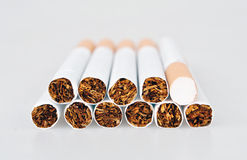 Cigarettes. With tobacco on white background Stock Photo