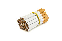 Cigarettes. Bunch of cigarettes in the photo Royalty Free Stock Image