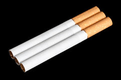 Cigarettes. On a black background Royalty Free Stock Image