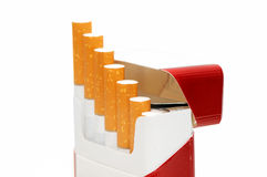 Cigarettes. Isolated on a white background Stock Photography