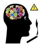 Cigarettes affect the Brain Stock Photo