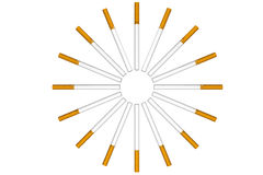 Cigarettes as circle Royalty Free Stock Photo